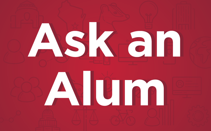 Ask an Alum graphic