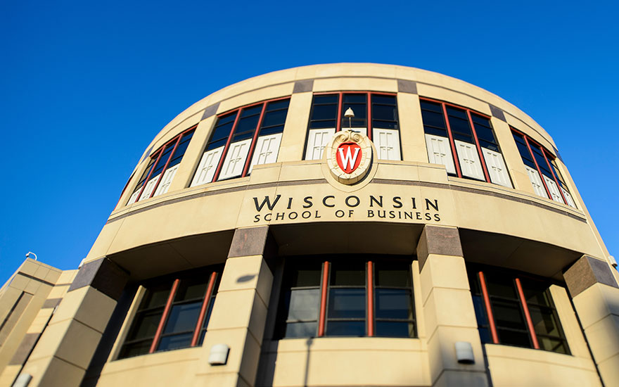 The exterior of Grainger Hall, home to the Wisconsin School of Business
