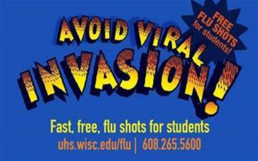 Avoid Viral Invasion Flu Shot Graphic