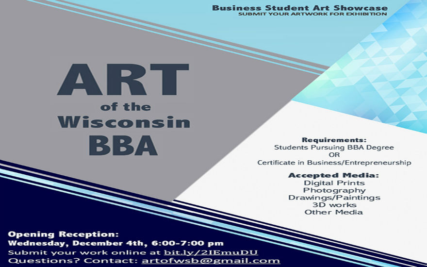 Art of the Wisconsin BBA flyer with details for submission
