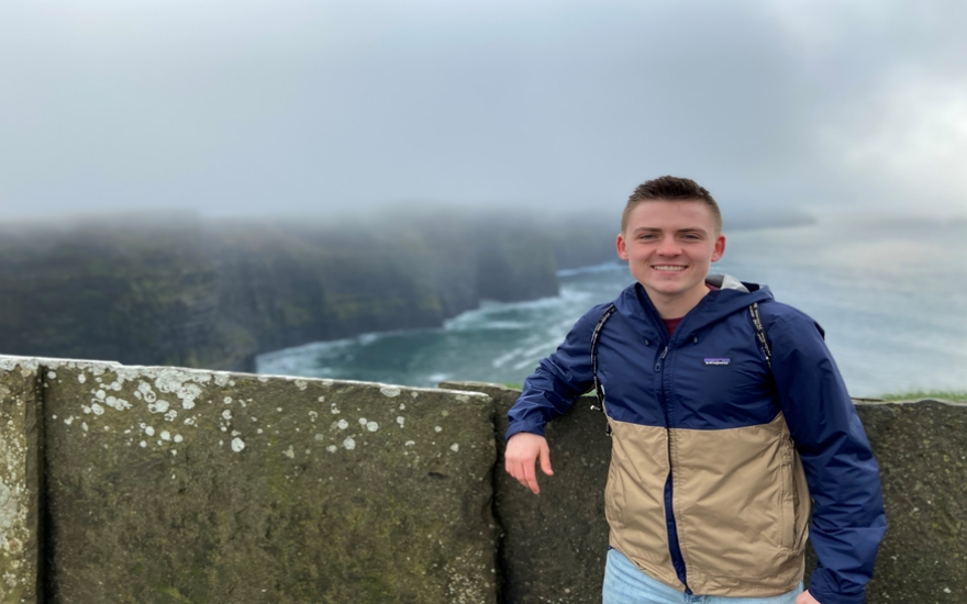 A student studying abroad in Dublin
