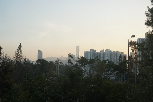 View of city from the dorm room