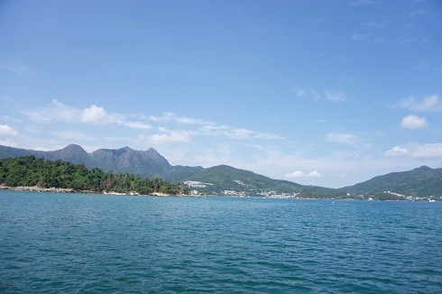 Coast of beach side town