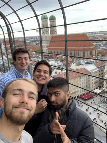 Selfie with friends in Munich, Germany