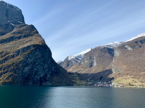 lake and mountain scenery of Undredal