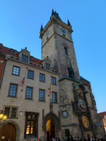 an ancient building in Prague