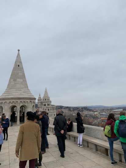 View from a tower at Fisherman's Bastion