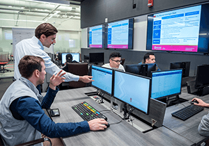 Students have access to cutting-edge technology in the Finance and Analytics Lab