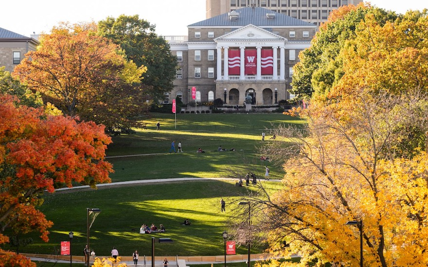 Bascom Hill Front View with Autumn Trees