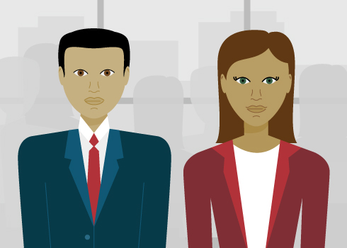 Man and Woman graphic