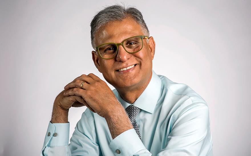 Professor Neeraj Arora poses for a portrait.