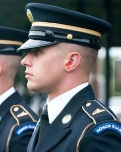 Profile view of man in U.S. Army uniform