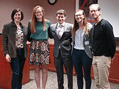 Three UW-Madison undergraduate students celebrate their win of the BEST Challenge