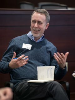 Greg DeCroix talks during the breakout sessions