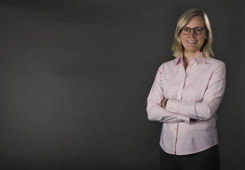 Assistant Professor Florence Honoré poses for a portrait