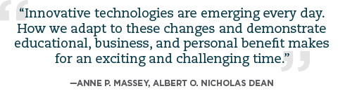 Pull quote from Dean Massey regarding innovative technologies