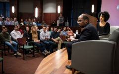 Roger Ferguson Jr. addresses the Weikel audience