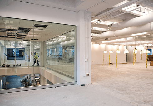 Glass panels harvest natural light in the renovated Learning Commons