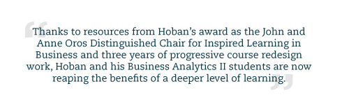 A block quote about the impact of Hoban's work.