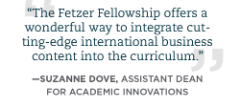 Quote about Fetzer Fellowship from Suzanne Dove