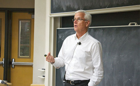 Kevin Mansell Lecturing