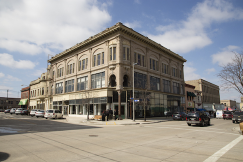 Schuette building in Manitowoc, Wisc.