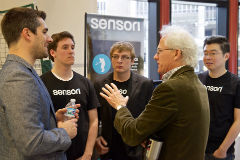 Wemmerlov with students at Burrill Competition