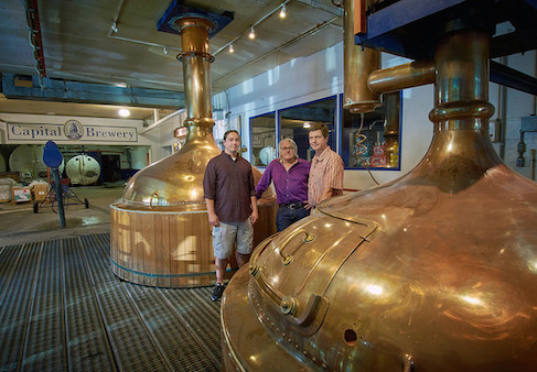 Tim Annis, Thomes O-Guinn, and Richard King in Capital Brewery