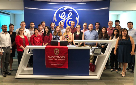 Wisconsin MBA students visit GE in Peru.