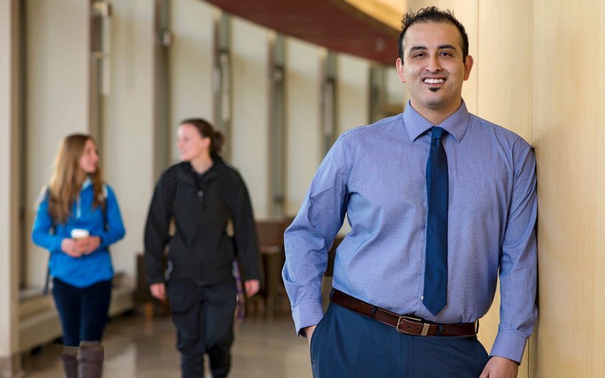 MBA operations and technology management student featured in student spotlight with headline achieving to inspire others